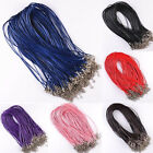 10pcs Adjustable Chains Necklace Charms String Cord Jewelry Findings 1.5mm
