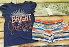 Gymboree Set Shore to Love Cute Coast Sun Top Striped Shorts NWT 3T 5T Outlet