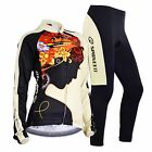 Women Cycling Jersey Bike Pants Cushioned Breathable Bicycle T Shirts Spin Suits