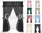 Lauren Dobby Design Double Swag Shower Curtain Sets - Assorted Colors