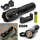 Tactical 20000LM T6 5Modes High Power LED Zoom Flashlight Torch 18650 * Clip USA