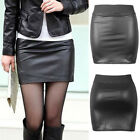 Women' s PU Leather Club Bodycon Wet look Sleeveless Pencil Stretch Party Dress