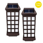 2PCS Solar-Powered Wall Lamp Waterproof Outdoor Yard Fence Street Light Decor