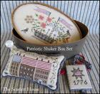 Patriotic Shaker Box Set Scarlett House Cross Stitch Pattern