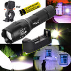 Tactical Police 20000LM 5Modes T6 Super Bright 18650 LED Zoom Flashlight Torch