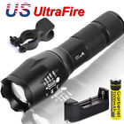20000LM T6 5Mode Super Bright LED Zoom Flashlight Torch 18650 Battery&US Charger