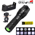 20000LM 5 Modes T6 Aluminum LED Zoom Flashlight Torch 18650 Battery&Clip USA