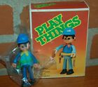 70s VINTAGE PLAY THINGS SIMIL PLAYMOVIL ARTICULATED SOLDIER FIGURE ARGENTINA BOX