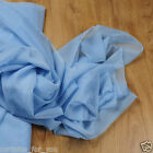 VOILE FABRIC WIDE 118'' (3M) SOLD BY THE METER 15 COLOURS BARGAIN