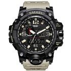 Military Tactical Watch Army Sports Analog Digtal Wrist Water Resist Backlight
