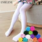 Kids Girls Baby Infant Cotton Candy Color Elastic Pantyhose Stocking Tights