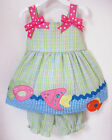 BNWT Girls Cotton 2PC Set Top & shorts Nappy Cover Bloomers SZ 000, 00, 0, 1, 2