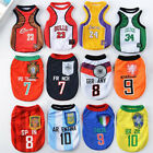 S-6XL Pet Dog Cat Puppy World Cup Football Soccer Sports Clothes T-shirt Costume