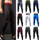 Men's Compression Yoga Pants Base Layer Sport Training Leggings Gym Trousers