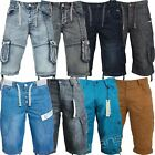 Mens Eto Jeans Cargo Combat Shorts Casual Summer Cotton Chino Half Pants