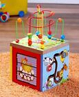 5-In-1 Wooden Learning Center Baby Toddler Toy Learning Bead Runner Puzzle Match