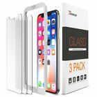 Phone X Screen Protector, Trianium (3 Packs, Clear) Tempered Glass