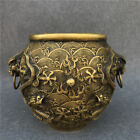 China handmade antique bronze Lucky Two dragons are playing with a pearl  Pots