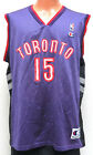 vtg VINCE CARTER #15 Toronto Raptors JERSEY sz 44 & 48 nba 90s/00s purple black