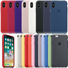 Luxury Original Silicone Cover Ultra-Thin Back Case For iPhone X 10 / 7 8 Plus