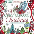 A Very Blessed Christmas Coloring Book by Robin Mead (2016, Paperback)