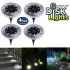 """""""As Seen on TV"""" 4Pack Bell + Howell Disk Lights Solar Powered LED Outdoor Lights"""