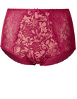 B.New Ex M&S Jacquard & Lace Full Briefs Sizes 8-22 Pink