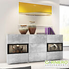 Credenza moderna EMOTION Gihome ® cemento mobile madia buffet design led vetrina