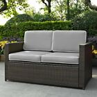 Crosley Furniture Palm Harbor All Weather Wicker Patio Loveseat