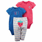 Carters Baby Girl Carter's 3-pc. Strawberry Bodysuit & Pants Set 3 6 9 12 Months