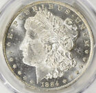 1884-O MORGAN SLIVER DOLLAR PCGS MS-62 PL BRIGHT LUSTER WITH MIRROR SURFACES