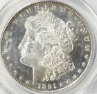 1891-S MORGAN SLIVER DOLLAR PCGS MS-62 PLOOF LIKE OBVERSE-BLAZING LUSTER