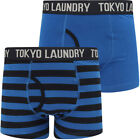 New Mens Tokyo Laundry (2 Pack) Cotton Striped Boxer Shorts Trunks Size S - XXL