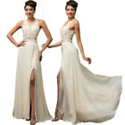 Dress ball gown bridal sleeveless womens applique Bridemaid maxi floor length