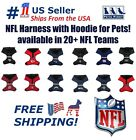 NFL Harness with Hood for Dogs & Cats. 20+ Football teams, with Reflective strip $23.99 USD on eBay