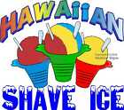 Hawaiian Shave Ice DECAL (CHOOSE YOUR SIZE) Food Truck Concession Vinyl Sticker