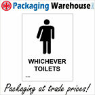 GE429 WHICHEVER TOILETS SIGN CONVENIENCE LOO MENS ROOM LADIES ROOM LOO WC