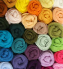Merino Wool Top Select from Assorted Shades Roving to Felt Spin into Yarn BTO