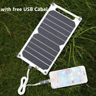 10W 5V Portable Solar USB Charger Power Charging Panel for IPhone Samsung Huawei