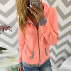 Women's Winter Sweatshirts Long-sleeved Coat Hooded Jumper Pullovers Zipper Tops