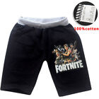 UK Fortnite Kids Casual shorts Pants Costume Clothes Casual shorts 100% cotton