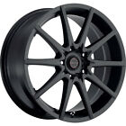 16X7 Focal 428SB F-04 Black Wheels Rims +42 4X100 & 4X108 Qty 2