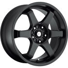 15X6.5 Focal 421B X Black Wheels Rims +38 5X100 & 5X4.50 Qty 4