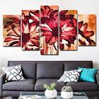 drawing flower pictures - Unique Draw Red Flower Abstract 5 Piece Canvas Art Print Picture Wall Decor