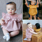 Newborn Baby Girl Boy Ruffle Romper Jumpsuit Bodysuit Clothes Outfit Summer