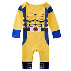 Baby Boy Wolverine Costume Romper Newborn X-man Playsuit Infant Halloween Outfit