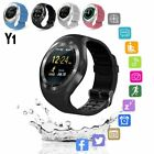 Bluetooth Smart Watch Phone Mate Round Touch Screen SIM SD For Android Samsung