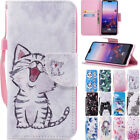 Pattern Magnetic Flip Stand Card Leather+TPU Wallet Case Cover For Various Phone