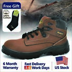 Safetoe Safety Boots Mens Work Shoes Steel Toe Leather Water Resistant US Size