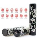 Korean Mother-of-pearl Personalized Stamp in Korean Alphabet for Best Gifts